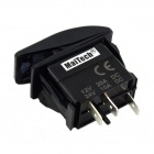 MaiTech 12V 20A / 24V 10A Car Switch with Red Light - Black + Red