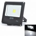 Marsing 20W 1600lm 6500K Square Outdoor Waterproof Cold White LED Flood Projection Lamp (85~265V)