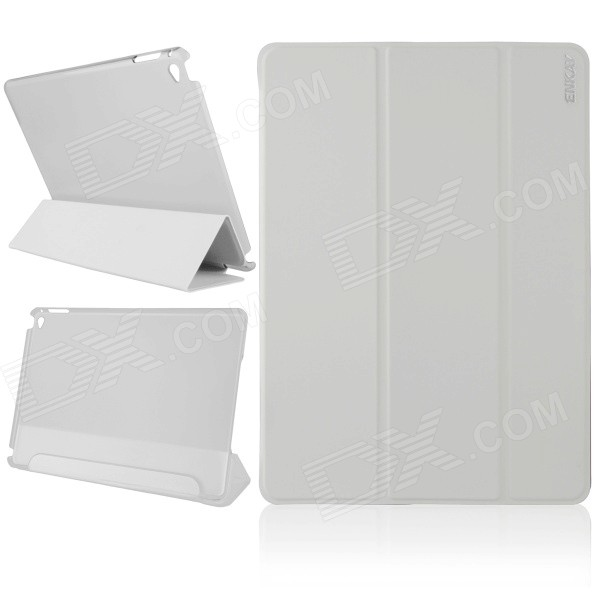 ENKAY Multi-folding Auto Sleep and Wake Up Designed Protective Case w/ Stand for IPAD AIR 2 - White auto paper auto take up reel system for all roland sj sc fj sp300 540 640 740 vj1000