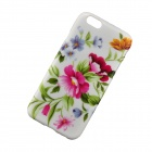 "Elegant Flower Pattern Protective Back Case for IPHONE 6 4.7"" / 6S - White + Green"