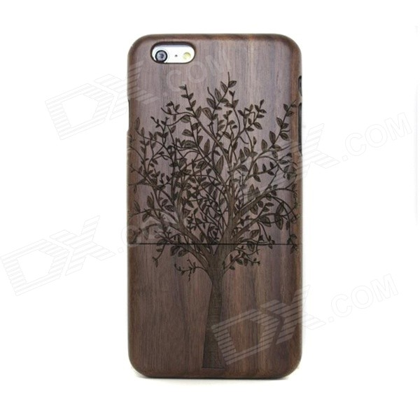 Retro Tree Pattern Walnut Wood Back Case for IPHONE 6 4.7