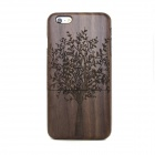 "Retro Tree Pattern Walnut Wood Back Case for IPHONE 6 4.7"" - Black + Brown"