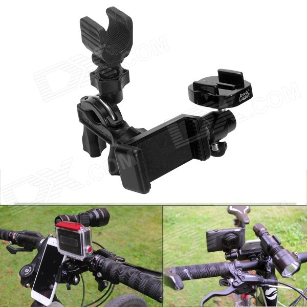 Fat Cat M-FB3 3-en-1 Bike Mount Adapter + linterna Holder + Clamp Teléfono para GoPro héroe 4 + Más