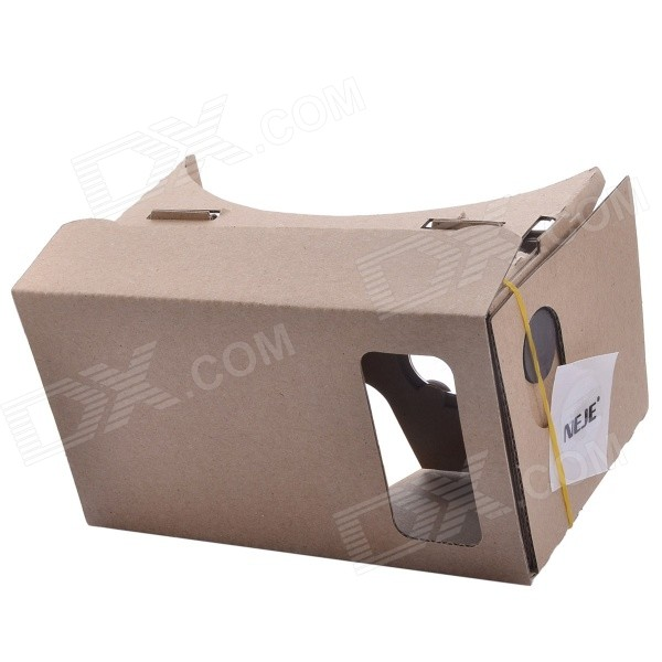 NEJE SZ004-10 DIY Virtual Reality 3D Glasses w/ NFC - Brown