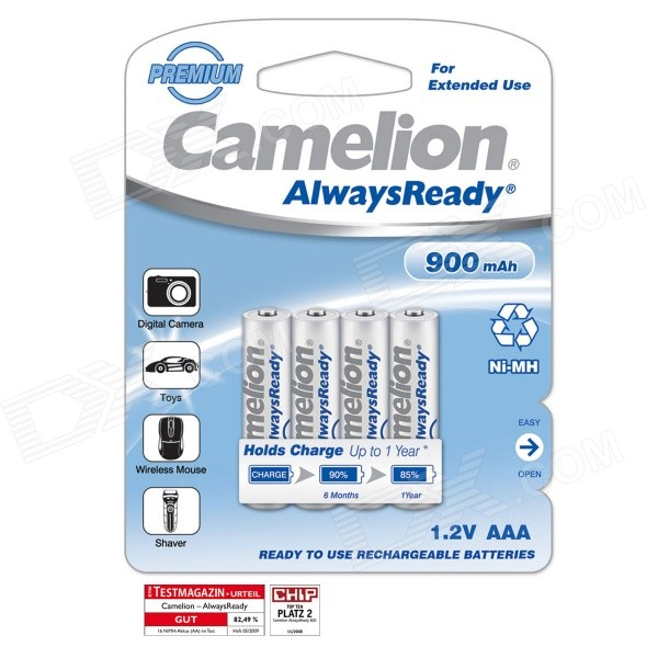 Camelion AlwaysReady 900mAh Low Self-discharge Ni-MH AAA Rechargeable Batteries (4 PCS) new original rm1 4313 000 rm1 4313 rm1 4310 000 rm1 4310 laser jet for hpcm1015 1017 fuser assembly printer part on sale