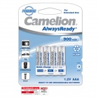 Camelion AlwaysReady 900mAh Low Self-discharge Ni-MH AAA Rechargeable Batteries (4 PCS)