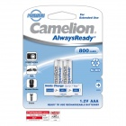 Camelion AlwaysReady 800mAh Low Self-Discharge Ni-MH AAA Rechargeable Batteries (2 PCS)