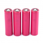 Genuine New Panasonic NCR18650BF 3.7V 3400mAh Rechargeable Li-ion Battery - Red (4 PCS)