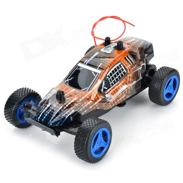 8801A 27MHz 1:24 Scale 3-CH High-speed Off-Road R/C Car - Orange + Black + Multi-Color nansheng 8807g 1 12 scale 3 ch 2 4ghz high speed r c cross country car silver black