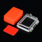 GP191 Water-resistant Thickened LCD Screen Back Case Set for GoPro Hero 3 / 2 / 1 - White + Red