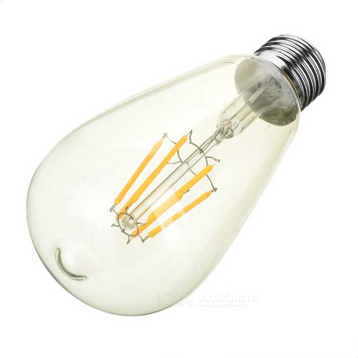 E27 6W LED Filament Bulb 550lm 3200K Warm White Light (AC 85~265V)