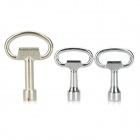 Professional Steel 5-in-1 Tubular Keys Set - Silver