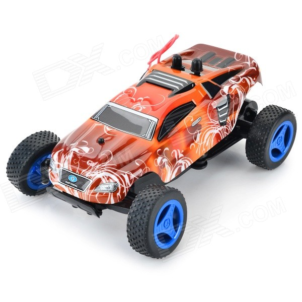 8802A 27MHz 3-CH 1:24 Scale High-speed Off-Road R/C Car - Red + Black nansheng 8807g 1 12 scale 3 ch 2 4ghz high speed r c cross country car silver black