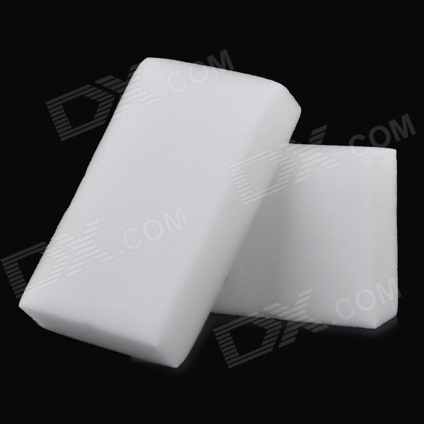 Car Wash Cleaning Sponge Pad - White (2pcs)