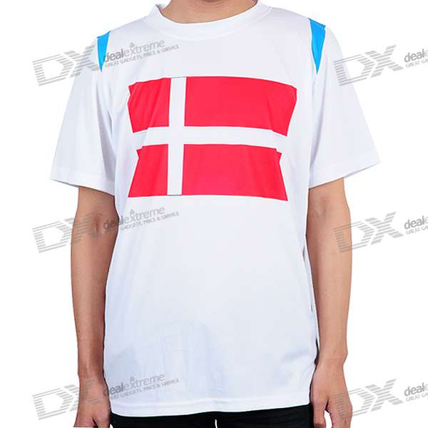 National Football/Soccer Team T-Shirt - Denmark (L-Size)