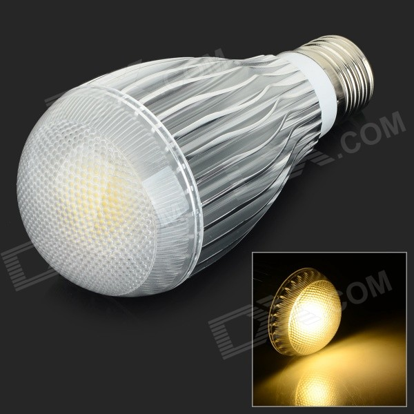 E27 10W 850lm 3500K COB LED Warm White Light Bulb - White + Silvery Grey (AC 85~265V) e27 10w 300lm rgb led dimmable colorful light bulb ac 85 265v