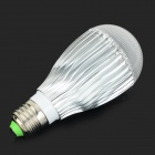 E27 10W 850lm 3500K COB LED Warm White Light Bulb - White + Silvery Grey (AC 85~265V)