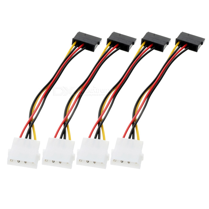 IDE to SATA Hard Drive Power Cable - White + Black (4 PCS) sata 09519