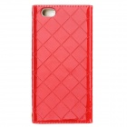 Protective PU Case w/ Card Slots / Strap for IPHONE 6 PLUS - Red
