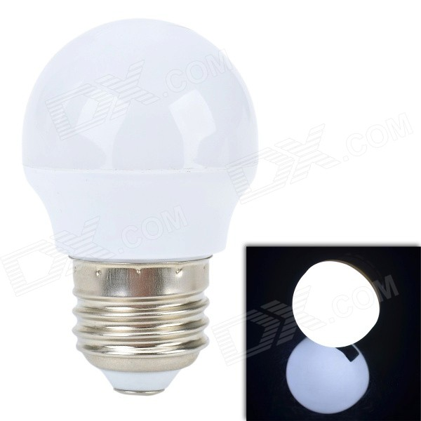 E27 3W 210LM 6500K 24 x 3528 SMD LED Neutral White Light Lamp - White (AC 220V)