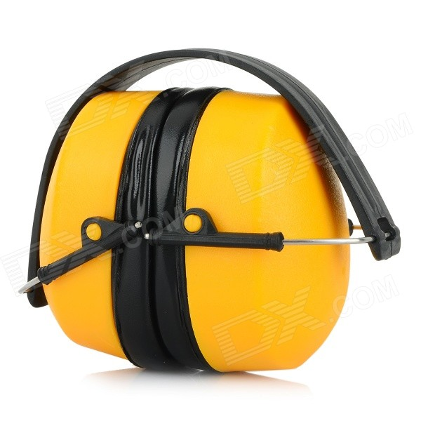 Foldable Noise Reduction Protection Earmuff Muffler - Yellow + Black new anti noise impact sport hunting electronic tactical earmuff shooting ear protectors hearing protection earmuffs