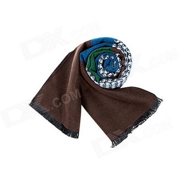 Men's Fashion Houndstooth Style Modal Scarf - Multi-Color