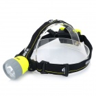 GLAREE W10 Multi-functional 70lm 4-LED 4-Mode White Light Headlight - Yellow + Black (3 x AA)