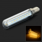 HH-084 E14 6W 240lm 3500K 37-SMD 3014 LED Warm White Fridge Lamp - Transparent + Silver (AC 220V)