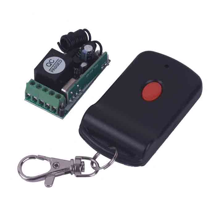 ZnDiy-BRY 12V Mini Wireless Remote Control Switch + Butterfly One Button Remote ControlTransmitters &amp; Receivers Module<br>Form  ColorBlackModelZBYB24Quantity1 DX.PCM.Model.AttributeModel.UnitMaterialPVC + PlasticFrequency315MHz/433MHzWorking Voltage   12 DX.PCM.Model.AttributeModel.UnitWorking Current15 DX.PCM.Model.AttributeModel.UnitEffective Range200mEnglish Manual / SpecNoOther FeaturesMaximum load: 1500WCertificationN/APacking List1 x Remote Control Switch1 x Controller (included 1 x 23A/12V battery)<br>