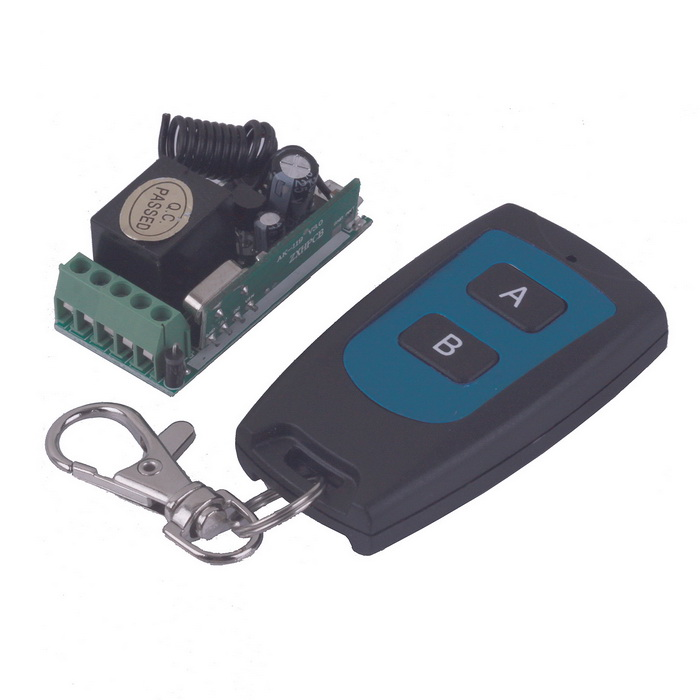 ZnDiy-BRY 12V Mini Wireless Remote Control Switch + Ultra-thin Two Keys Remote Control