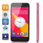 "D6 SC7715 Android 4.4.2 WCDMA Smart Phone w/ 5.0"" FVGA, 1GB RAM, 4GB ROM - Deep Pink + Black"