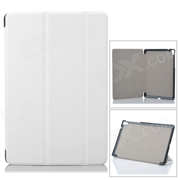 Fashion Protective PU Case w/ Stand for Google Nexus 9 - White removable bluetooth v3 0 64 key keyboard w pu case for google nexus 9 8 9 white
