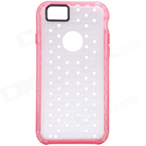 NILLKIN Hollow-out Ultra-thin Protective TPU Back Cover Case for IPHONE 6 - Pink + Transparent ultra thin matting protective plastic back cover case for iphone 5 pink