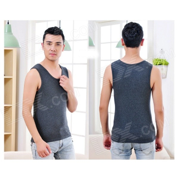 Mens Stylish Thicken Cotton Vest - Gray (XXL) - DXUnderwear<br>Color Grey Size XXL Model FS-57 Quantity 1 Piece Shade Of Color Gray Material 86% combed cotton + 8% wool + 6% DPT Style Casual Waist Girth 0 cm Hip Girth 0 cm Crotch Length 0 cm Total Length 0 cm Suitable for Height 172-183 cm Packing List 1 x Vest<br>