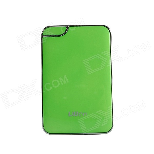 цена на Uben UU801 6000mAh Li-ion Battery Mobile Power Bank - Green + Silver