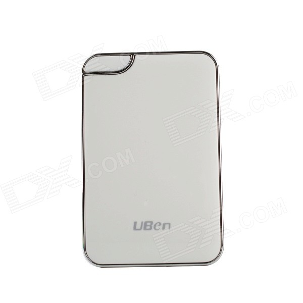Uben UU801 6000mAh Li-ion Battery Mobile Power Bank - White + Silver