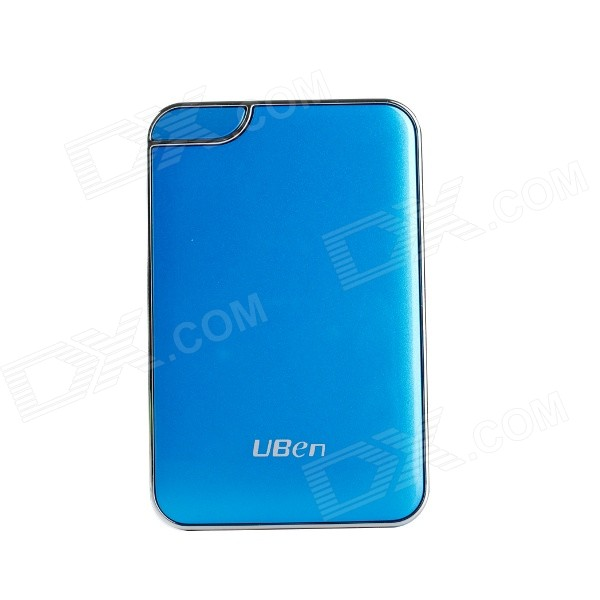 Uben UU801 6000mAh Li-ion Battery Mobile Power Bank - Blue + Silver 5200mah mini rechargeable mobile power bank for cellphone tablet pc more blue white