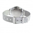XINGYE Men's Steel Alloy Band Analog Quartz Wrist Watch - Silver + Black (1 x 626)