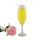 FEIS LZ28 Champagne Glass Style Jelly Candle - Yellow