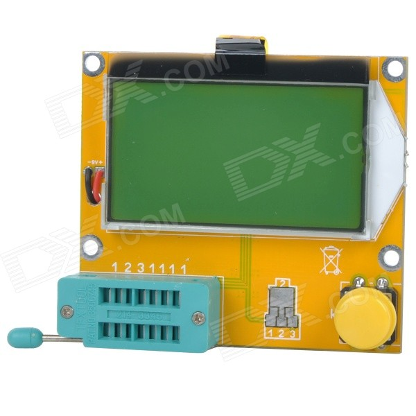 LCR-T4 Meter Tester for Capacitance ESR Inductance Resistor NPN PNP Mosfet M328 - Yellow+Multicolor стоимость