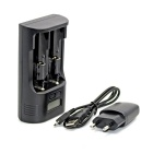 "Soshine T2 1"" LCD Universal 18650 / 26650 /  AA / AAA /C Li-ion NiMH LiFePO4 Battery Charger - Black"