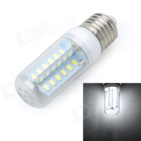 Marsing E27 8W 800lm 6500K 48-SMD 5730 LED Cool White Corn Lamp - White + Yellow (AC 220~240V) marsing g9 3 5w 350lm 6500k 30 5050 smd led white light corn lamp white yellow ac 220 240v