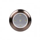 Lightmates CL017 0.3W 30lm 3000K 5-LED Warm White Decorative Cabinet / Mirror Light - Brass (4.5V)