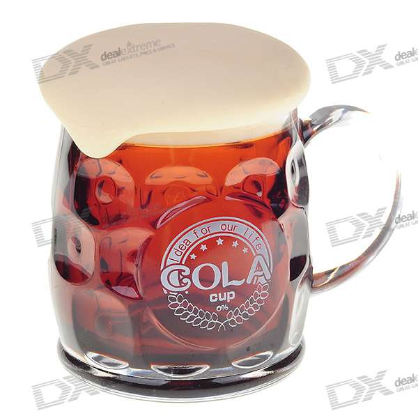 Plastic Drink Cola Cup mit Deckel - Brown (380ml)