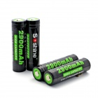 Soshine Li-ion 2900mAh Anode Protection 18650 Batteries with Case - Black (4 PCS)