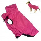 Water-resistant Nylon + Fleece Jacket for Pet Dog - Deep Pink (Size L)