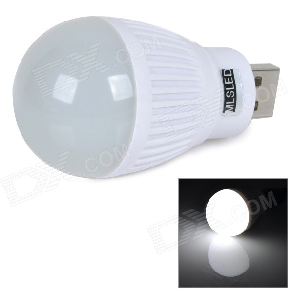 MLSLED MLX-SD-U-B USB 0.5W 50lm 6500K 3528 SMD LED White Light Bulb - White (5V)