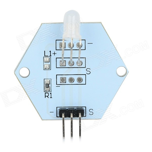 LDTR-0013 5mm Red & Green Two-Color LED Common Cathode Module for Arduino - White + Transparent