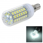 E14 10W 900lm 5500K White Light 5730 SMD LED Corn Bulb Lamp - White + Silver + Yellow (AC 220~240V)