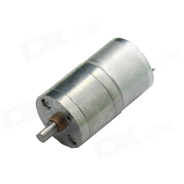 Brush DC 3.0V 55RPM Large Torque Gear Motor w/ 25mm Diameter - Silver 12v 60rpm large torque dc gear motor silver